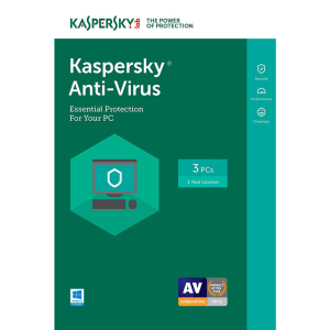 Kaspersky Anti-Virus 2018 - 1-Year / 3-PC - INT