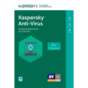 Kaspersky Anti-Virus 2018 - 1-Year / 1-PC - US/CA