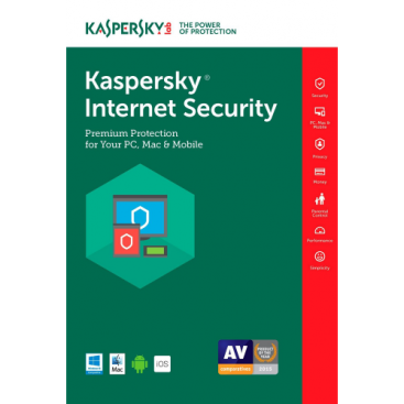 Kaspersky Internet Security 2018 - 1-Year / 3 -Device -Global [KEYCODE]