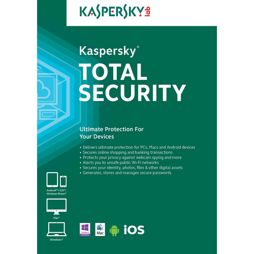Kaspersky Total Security 2018 - 1-Year / 10-Device