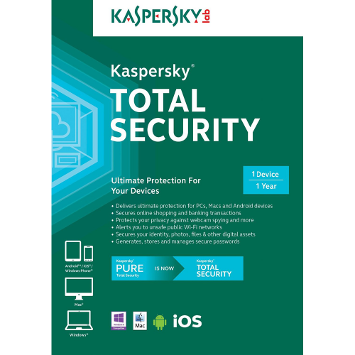 Kaspersky Total Security 2019 - 1-Year / 1-Device