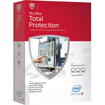 McAfee Total Protection - 1-Year / 3-PC - Global [KEYCODE]