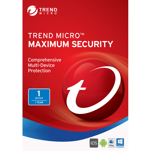 Trend Micro Maximum Security (2018) - 1-Year / 1-Device