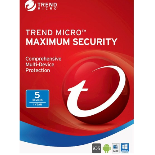 Trend Micro Maximum Security (2018) - 1-Year / 5-Devices