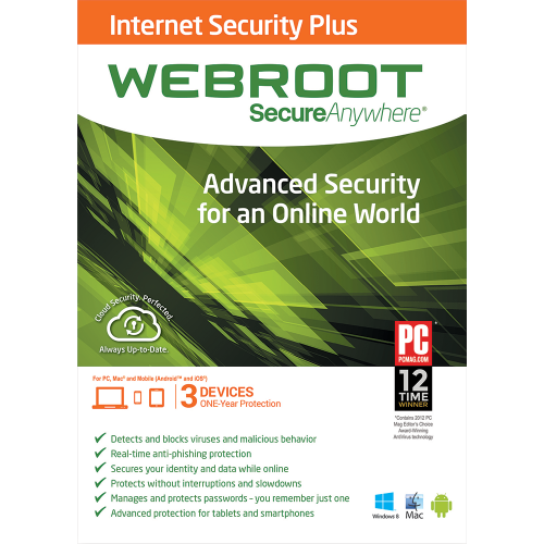 Webroot SecureAnywhere Internet Security Plus - 1 Year / 3 Devices